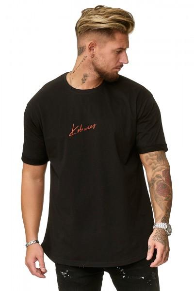 Herren T-Shirt Poloshirt Shirt Kurzarm Printshirt Polo Kurzarm KOK03