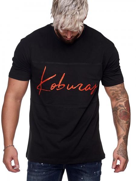 Herren T-Shirt Poloshirt Shirt Kurzarm Printshirt Polo Kurzarm KO19-T1