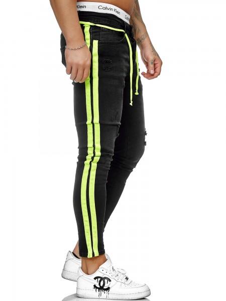 Herren Jeans Hose Slim Fit Männer Skinny Denim Designerjeans KO1008-SG-ST