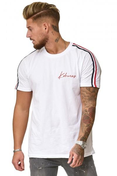 Herren T-Shirt Poloshirt Shirt Kurzarm Printshirt Polo Kurzarm KOK01