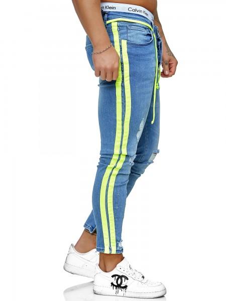 Herren Jeans Hose Slim Fit Männer Skinny Denim Designerjeans KO3008J-BG-ST